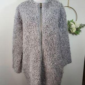 Zara Knit Zip Up Sweater Size Medium